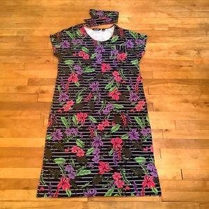 2/$25 - LANDS' END Cotton T-Shirt Dress - L 14/16